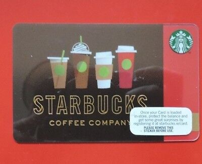 STARBUCKS IRELAND DRINK LINE-UP 2016 GIFT CARD.NO VALUE COLLECTORS ITEM