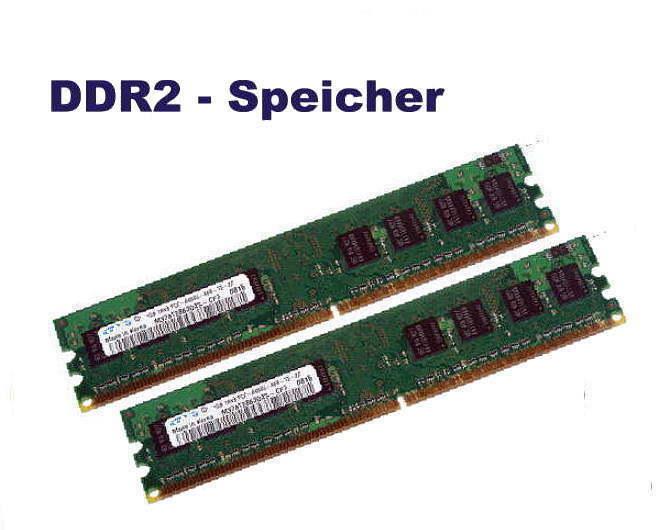 Arbeitsspeicher  2GB / 4GB DDR2 Ram Kit PC2-6400 800MHz