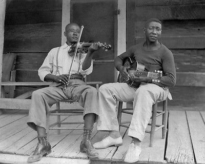 Blues Singer MUDDY WATERS & Fiddler HENRY SON SIMS Glossy 8x10 Photo Print