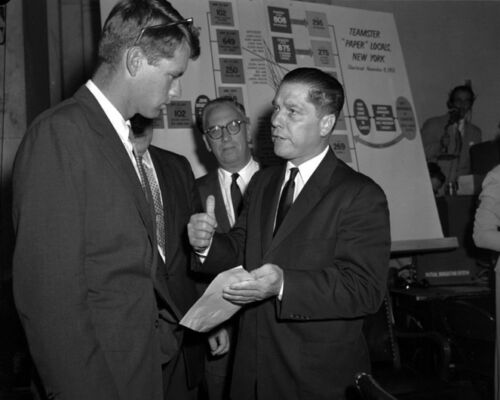 Union Labor Leader JIMMY HOFFA & ROBERT KENNEDY Glossy 8x10 Photo Print Poster