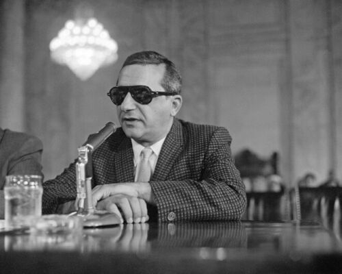 1959 Gangster Mobster SAM GIANCANA 8x10 Photo Chicago Outfit Print Mafia Poster