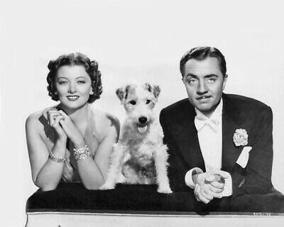 1934 Film THE THIN MAN 8x10 Photo Myrna Loy, Asta & William Powell Print Poster