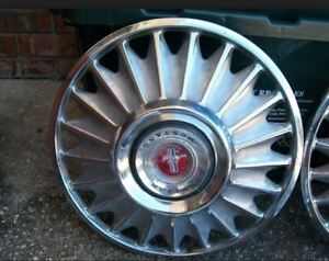 pair (2) of used 1967 Mustang hubcaps