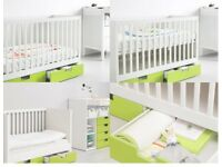 Ikea Baby Cot (Stuva) with drawers & mattress
