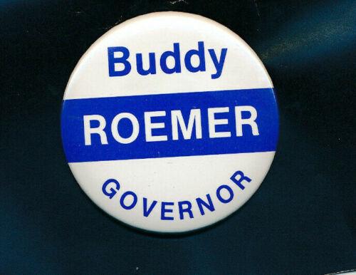 """1987 Buddy Roemer for governor 2 1/4"""" cello Louisiana LA campaign button"""