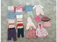Huge Baby Girl Clothes Bundle 0-3 months VGC