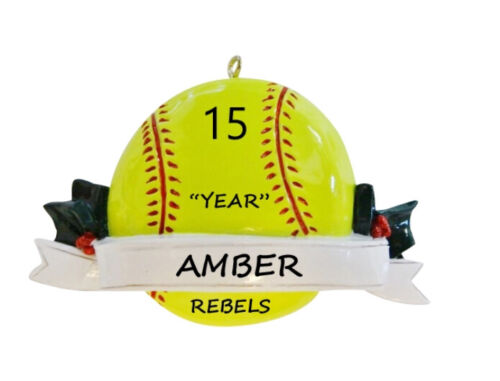 Personalized Softball Sports Christmas Ornament