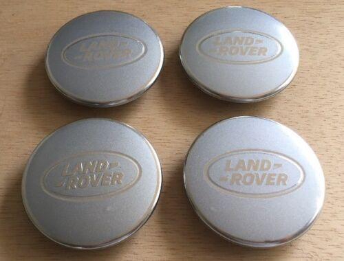 Land Rover OEM Wheel Center Caps (Satin Silver/Bright Aluminum) Set Of 4 Pcs