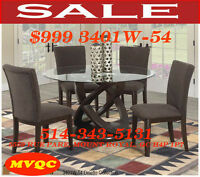 Special offers, leather chairs, dinette sets, tables, cabinets