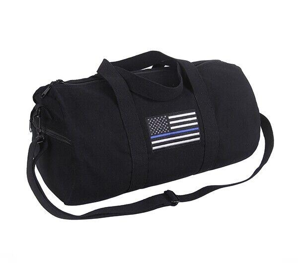 Rothco Thin Blue Line Canvas Shoulder Duffle Bag 2230