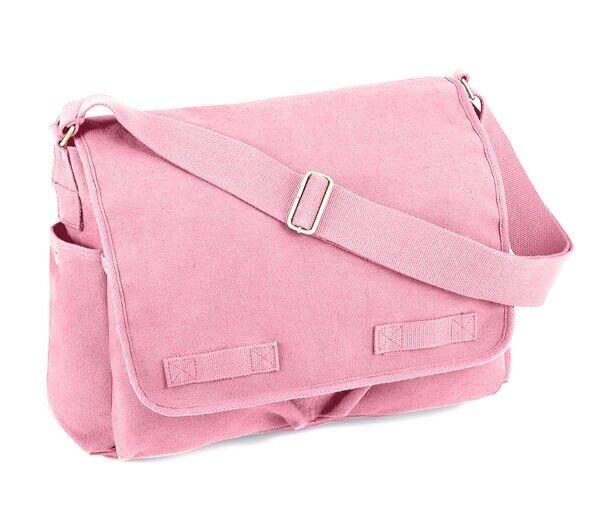 Rothco Pink Canvas Messenger Bag - 8154