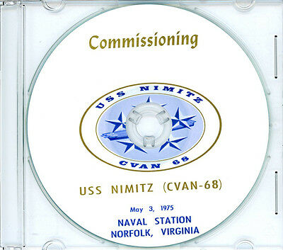 USS Nimitz CVAN 68 Commissioning Program 1975 United States Navy Plank Owners