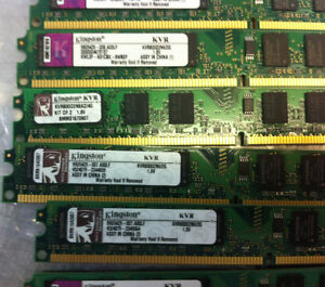 2GB DDR2 800 KINGSTON MEMORY FOR PC $17.50 West Island Greater Montréal image 5
