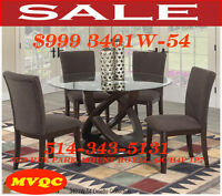 variety, dinette sets, extendable tables, leather chairs, mvqc