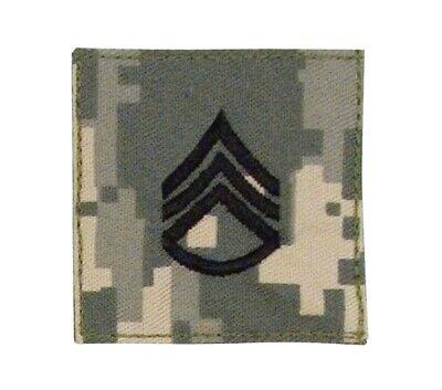 2 X 2 ACU US Army E-6 Staff Sergeant Rank Insignia Patch VELCRO BRAND Hook
