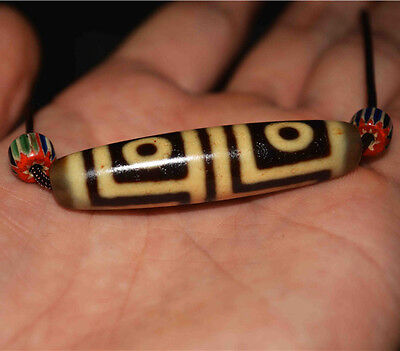 tibetan dzi bead 4 eyes amulet gzi ancient eye necklace tibet 9 amulet genuine