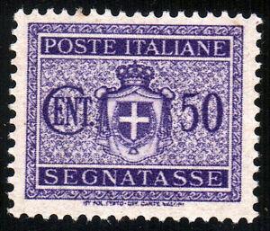 REGNO-D-039-ITALIA-SEGNATASSE-STEMMA-SABAUDO-CON-FASCI-Cent-50-Violetto-1934