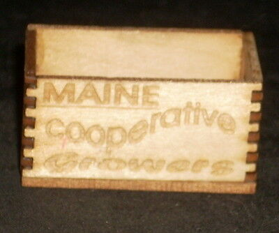 Dollhouse Miniature Maine Cooperative Growers Produce Crate 1:12 Food Farm for sale  Dallas