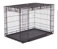 Two door dog crate with centre divider
