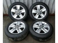 """DELIVERY MILES VW VOLKSWAGEN T5 T6 HIGHLINE 17"""" DAVENPORT ALLOY WHEELS & TYRES CONTINENTAL"""