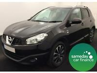 £229.47 PER MONTH BLACK 2011 NISSAN QASHQAI 2.0 DCi N-TECH HATCH DIESEL MANUAL