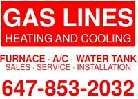 Gas Lines/ Heating/Cooling Services