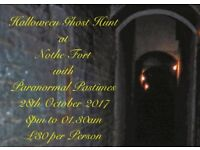 Halloween Ghost Hunt Nothe Fort 28th October 2017. £30 per Person 8pm to 1am