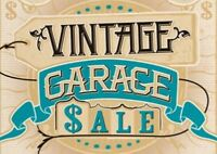 Vintage clearance and garage sale,