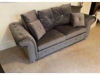 New velvet sofa