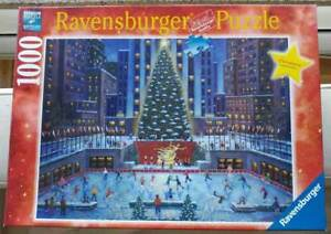 """Ravensburger 1000 puzzle """"NYC Christmas""""  complete"""