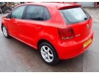 VW POLO 6R, 1.2 PETROL CGPB, RED 5 DOOR BREAKING SPARES AND PARTS, 2009/59 - 2014/14. ,