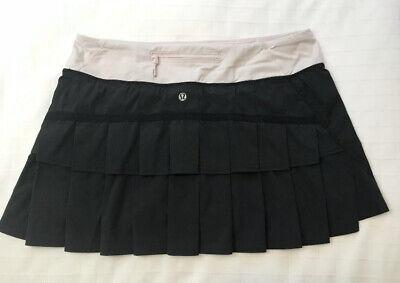 NICE🍀Lululemon 8 Run Pace Setter skirt - Black & Barely Pink