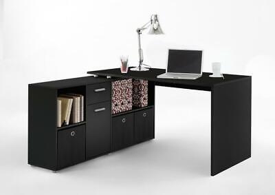LEX 1 Schreibtisch Winkelkombi von FMD Schwarz