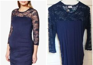 Maternity dress blue from Thyme Small