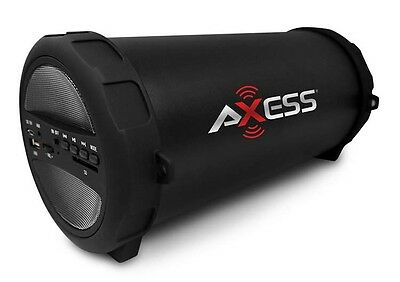 "AXESS Indoor/Outdoor Hi-Fi 3"" Silver Cylinder Bluetooth Speaker SPBT1041-GY"