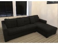 FREE DELIVERY DWELL VERONA GREY CORNER SOFA BED WITH STORAGE GOOD CONDITION