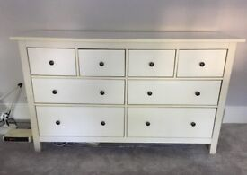 FREE DELIVERY IKEA HEMNES WHITE CHEST OF 8 DRAWERS
