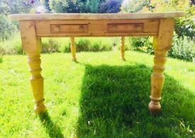 Large 12 Seater Antique Farmhouse Kitchen Table