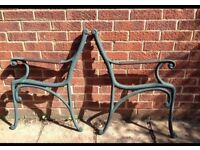 Cast iron bench ends - simple and elegant!