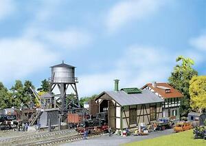 Faller H0 190172 Bahnbetriebswerk Lokschuppen Wasserturm Bekohlungsanlange _NEU