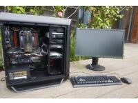 Quad core Gaming Pc tower/ computer with 32gb of ram