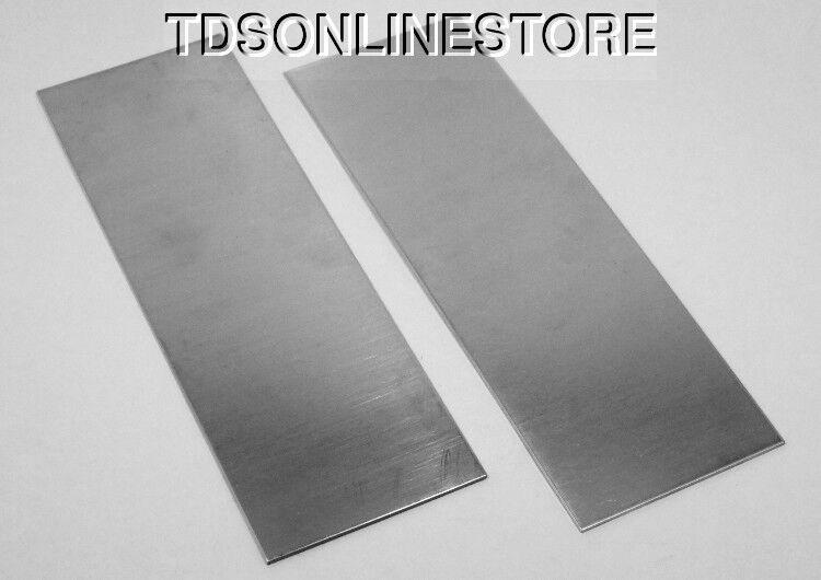 "Nickel Silver Sheet / Bracelet Blanks 16ga 6"" x 2"" 1.30mm  Pkg Of 2"