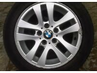 BMW 1 series 3 series 5 double spoke alloy wheel with tyre 16 inch