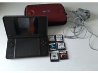 nintendo ds xl console in 7 Games & Case
