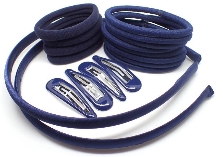 NEW Back to school Black sleepies elastics scrunchie ponios hair clip bobble set