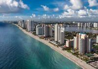 FLORIDE/LUXUEUX CONDO 1500PC/BALCON 30' SUR MER/19 MAI 2019 et +