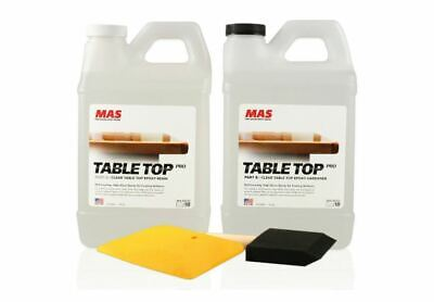 Crystal Clear Epoxy Resin One Gallon Kit Mas Table Top Pro Epoxy Resin Hard
