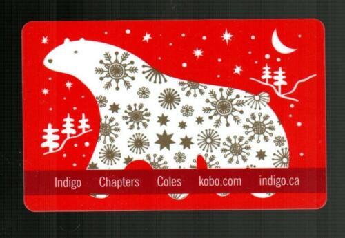 INDIGO ( Canada ) Polar Bear and Golden Snowflakes 2011 Gift Card ( $0 )