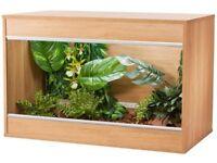 Vivexotic vivarium medium cabinet beech
