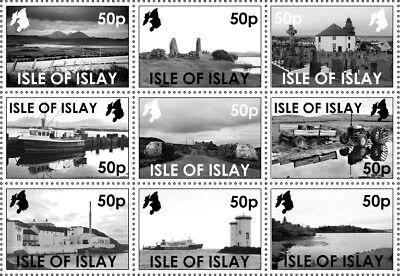 "GB Local stamps: Isle of Islay (2018): ""Islay in monochrome"" set"